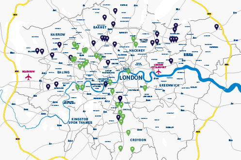 London charge-point map